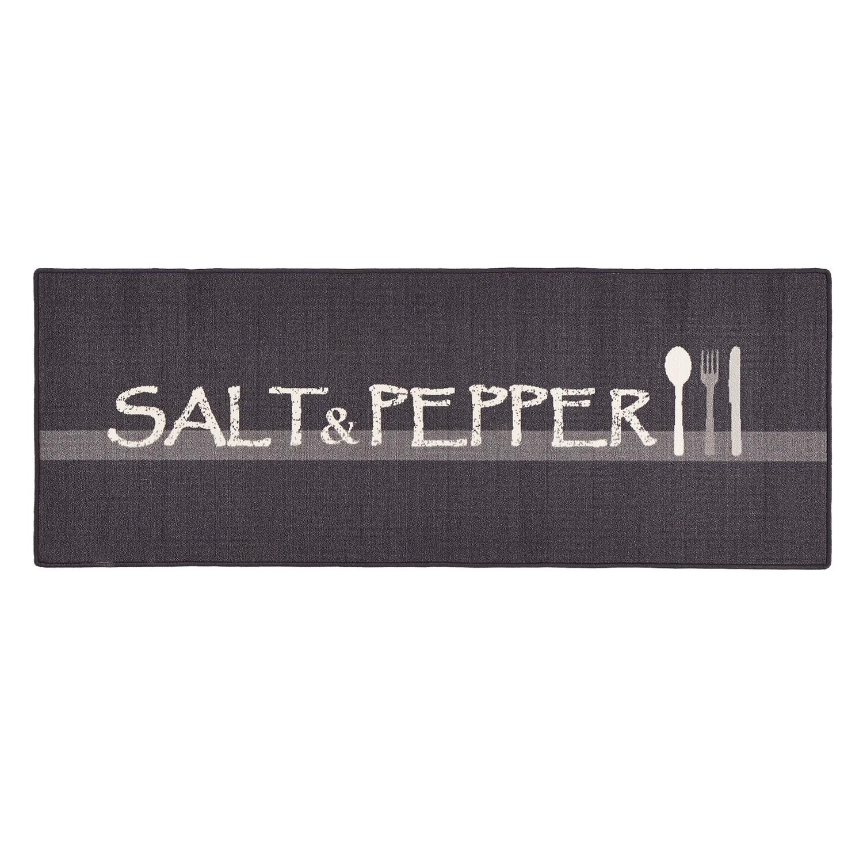 Loper zout & peper - kunstvezel - zwart, Hanse Home Collection