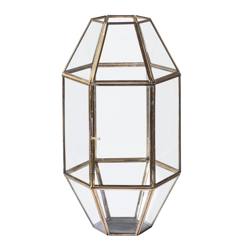Lantaarn Hexagen - metaal/glas - goudkleurig, Jack and Alice
