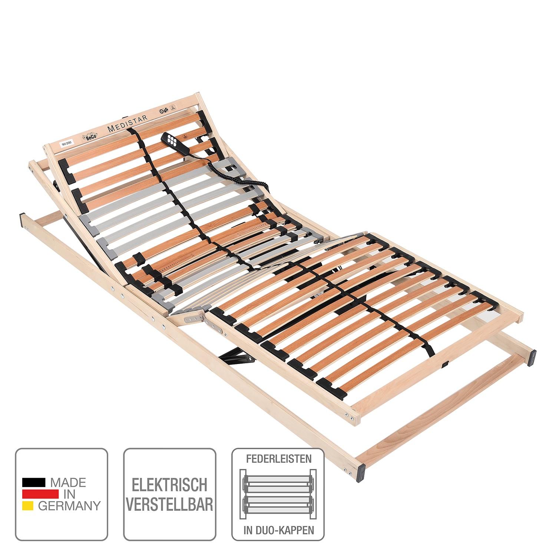 Lattenbodem MEDISTAR DUO - elektrisch verstelbaar - beukenhout/lichtbruin - 100 x 200cm, BeCo