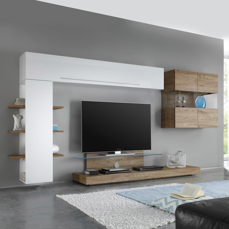 25 sparen wohnwand line lc iii 4 teilig nur 749 99 cherry m bel home24 - Lc spa mobili ...