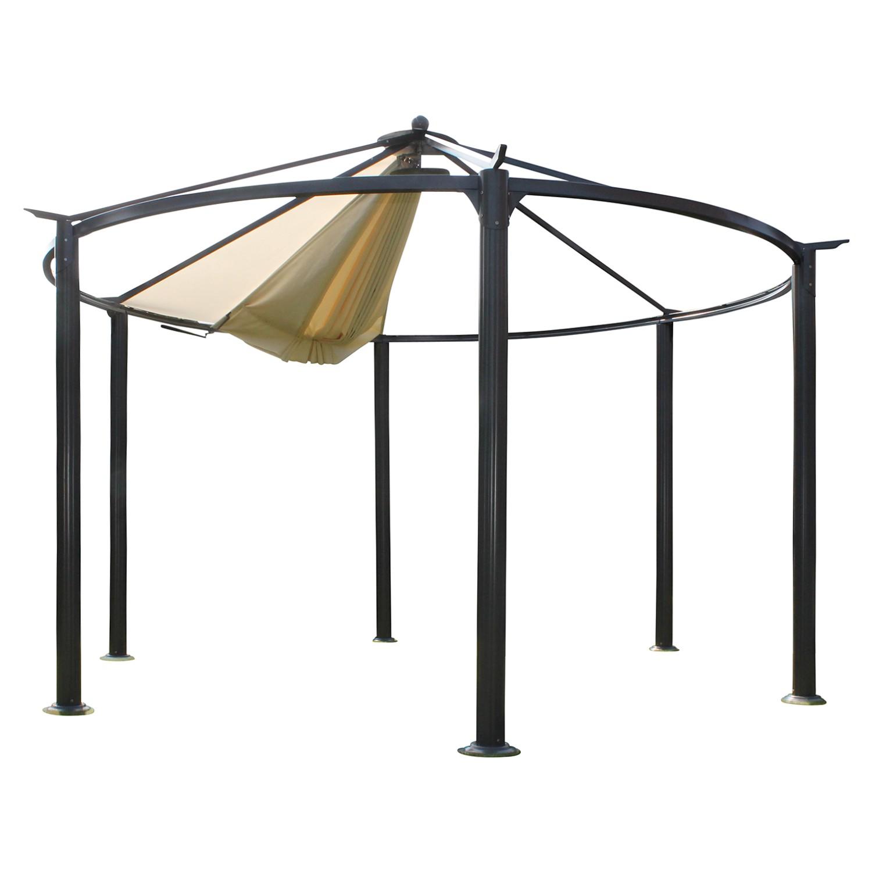 Paviljoentent Cirkulus - geweven stof/staal - crèmekleurig/antracietkleurig, Leco