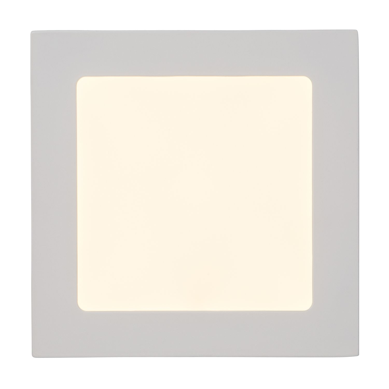 EEK A+, LED-Aufbauleuchte Kolja 1-flammig - Weiß Metall, Brilliant