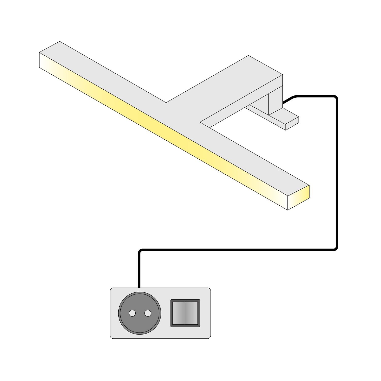 energie  A+, LED-verlichting Radiance II - aluminium - koudwit, Trendteam