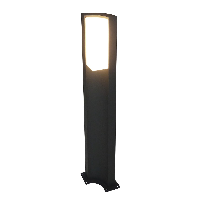 EEK A+, LED-Außen-Stehleuchte Swerve 36-flammig - Grau Aluminium, Näve
