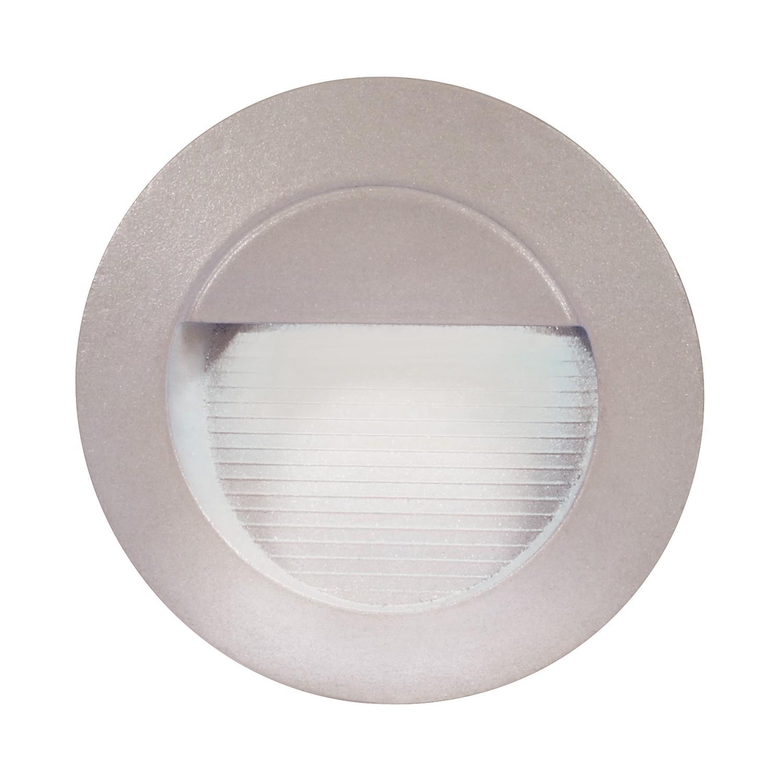 EEK A+, LED-Außen-Wandeinbaustrahler 14-flammig - Grau Aluminium, Näve