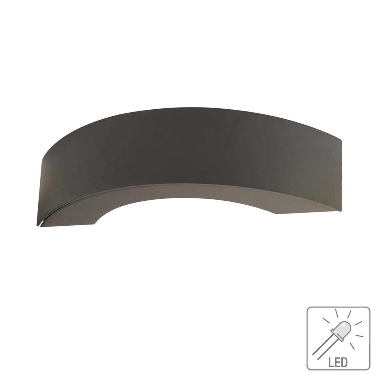 EEK A+, LED-Außen-Wandleuchte Curve 3-flammig - Grau Aluminium, Näve