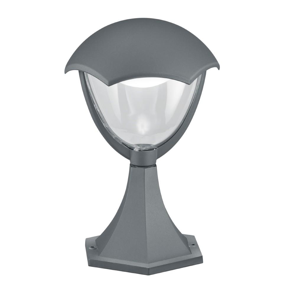 energie  A+, LED-padverlichting Gracht V - kunststof/aluminium - 1 lichtbron - Heldergrijs, Trio