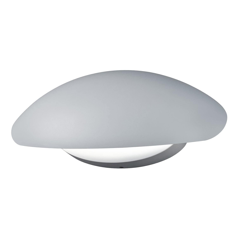 EEK A+, LED-Außenleuchte Missouri 1-flammig - Aluminium Kunststoff - Silber, Trio