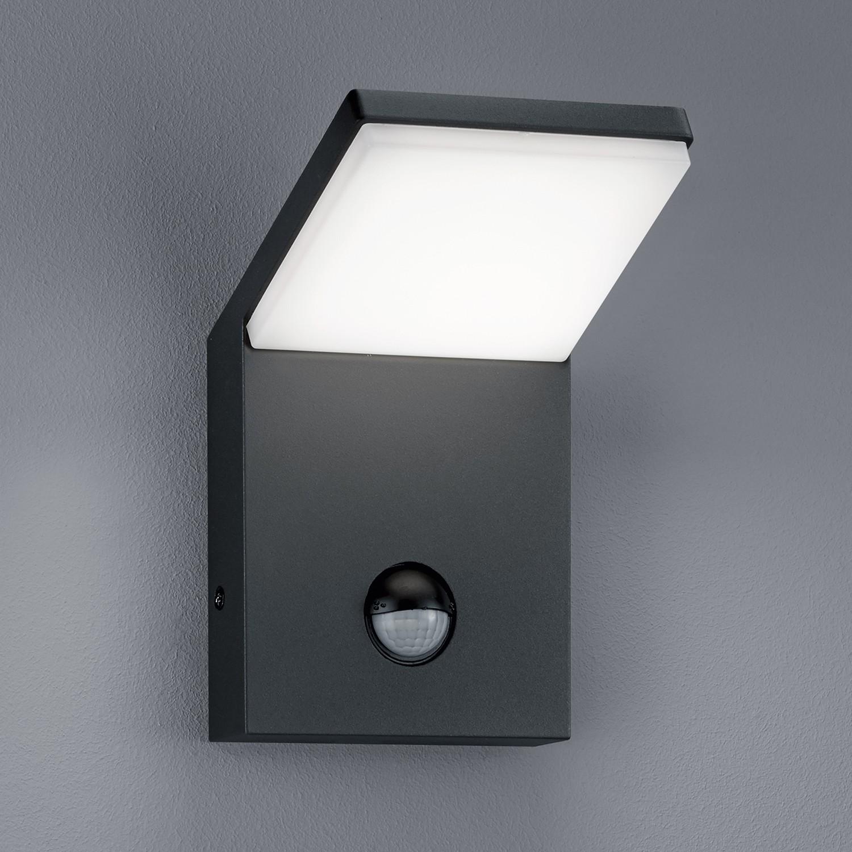 energie  A+, LED-buitenlamp Pearl - 1 lichtbron aluminium/kunststof zilverkleurig, Trio
