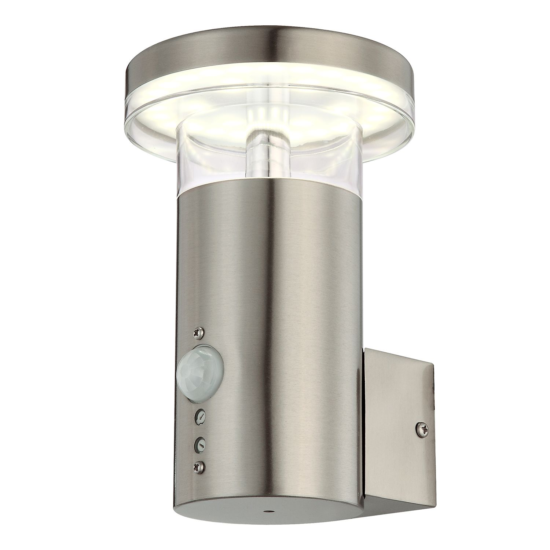 energie  A+, LED-buitenlamp Sergio II - kunststof/roestvrij staal - 1 lichtbron, Globo Lighting