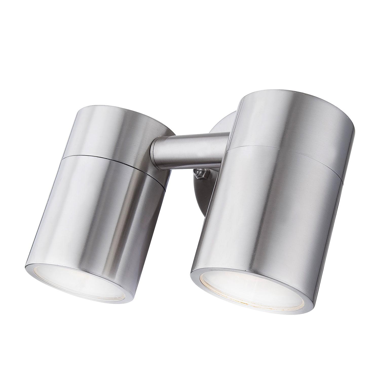energie  A++, LED-buitenlamp Style II - roestvrij staal - 2 lichtbronnen, Globo Lighting