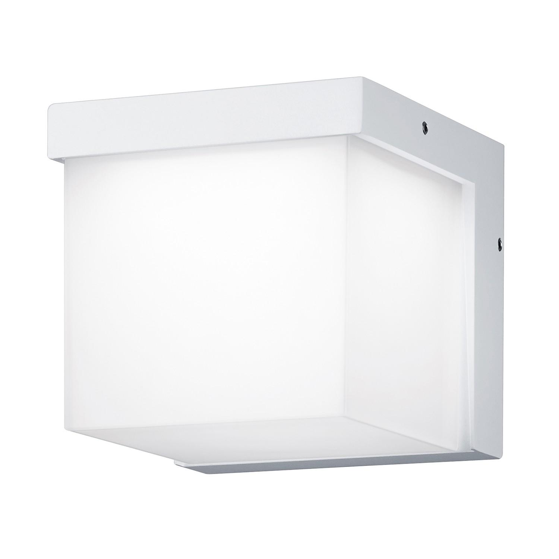 EEK A+, LED-Außenleuchte Yangtze 1-flammig - Aluminium Kunststoff - Silber, Trio
