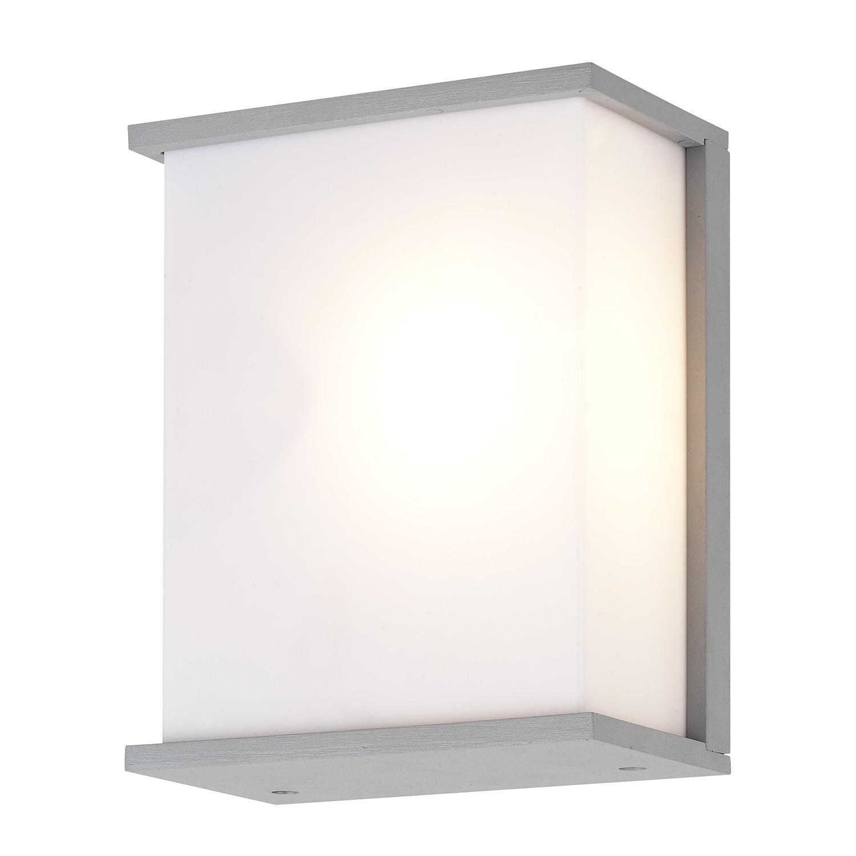energie  A++, Buitenlamp Caspar - aluminium grijs 2 lichtbronnen, Brilliant
