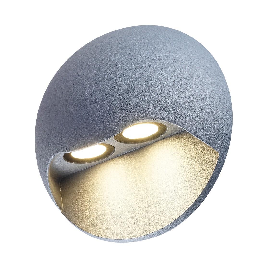 energie  A+, LED-buitenlamp Cycle II - aluminium zilverkleurig 2 lichtbronnen, Näve
