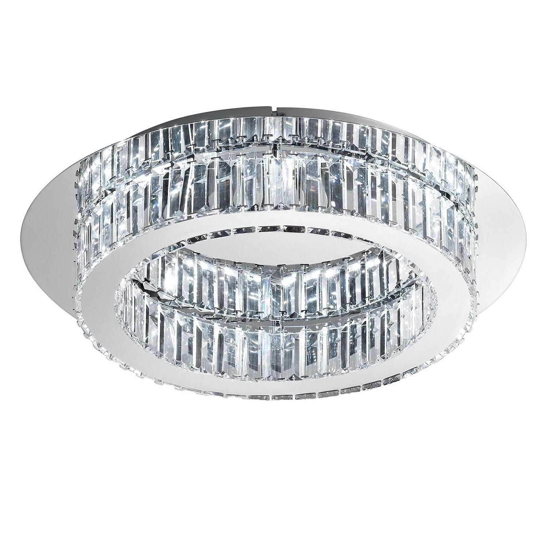 energie  A+, LED-plafondlamp Corliano - kristalglas/roestvrij staal - 1 lichtbron, Eglo