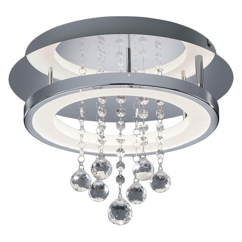 energie  A+, LED-plafondlamp Dorian I - plexiglas/metaal - 1 lichtbron - 35, Trio