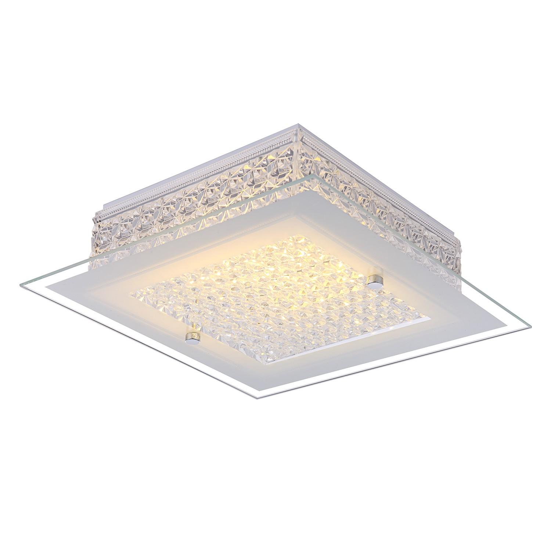 EEK A+, LED-Deckenleuchte Heidir I - Glas / Metall, Globo Lighting