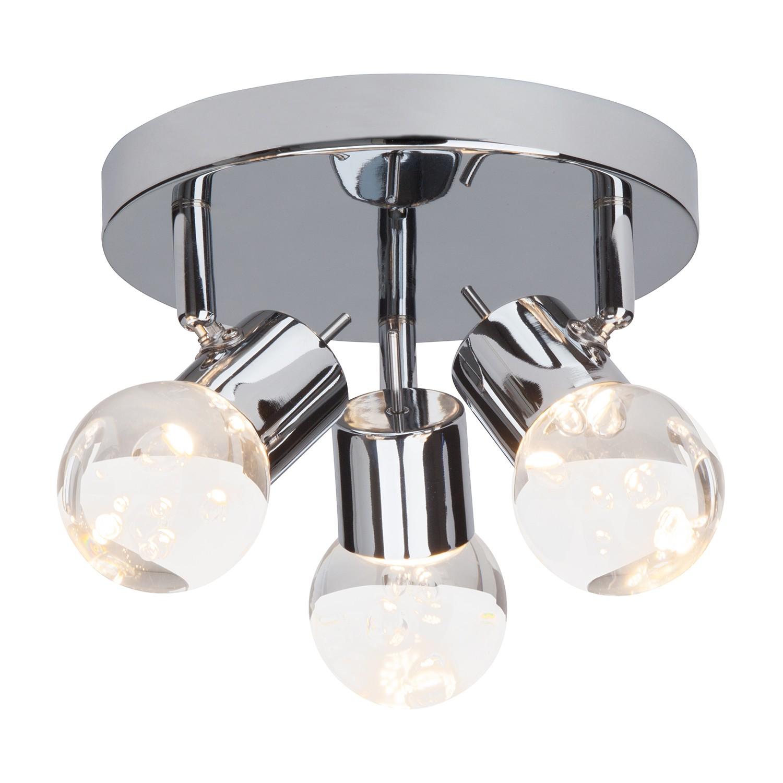 EEK A+, LED-Deckenleuchte Lastra 3-flammig - Silber Metall, verch bei Home24 - Lampen