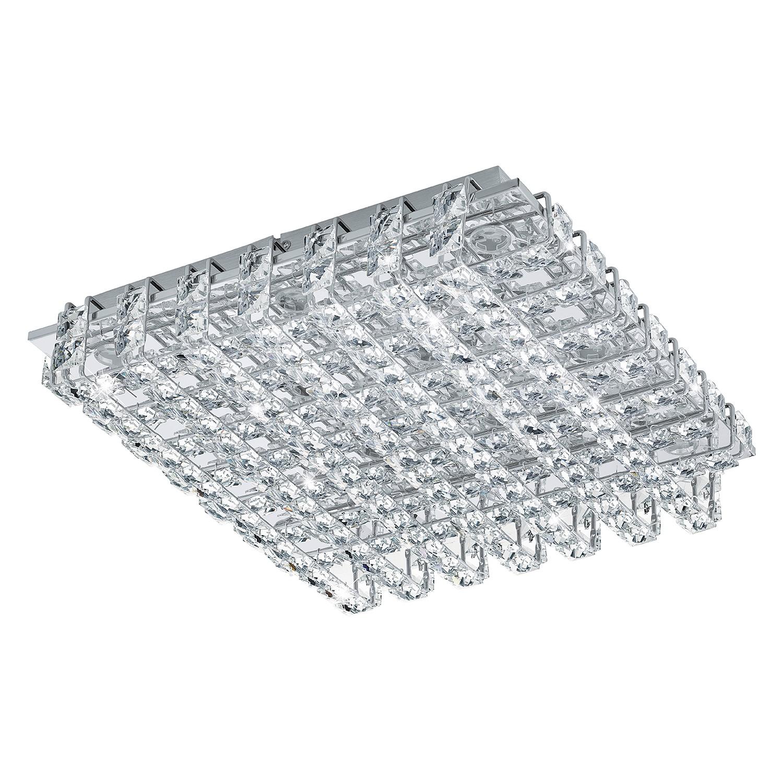 EEK A+, LED-Deckenleuchte Lonzaso - Kristallglas / Aluminium - 39 bei Home24 - Lampen