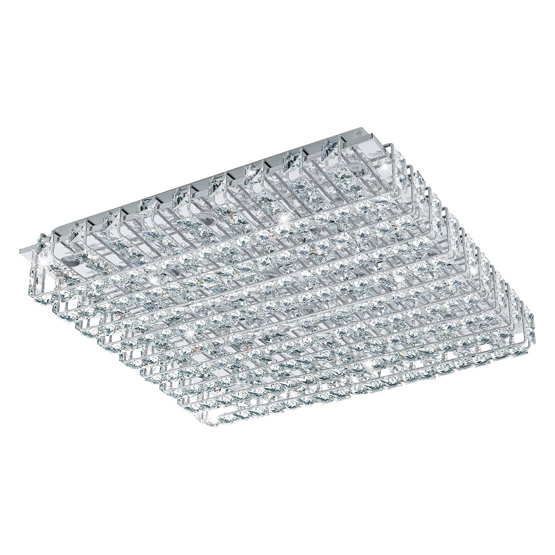 EEK A+, LED-Deckenleuchte Lonzaso - Kristallglas / Aluminium - 49, Eglo