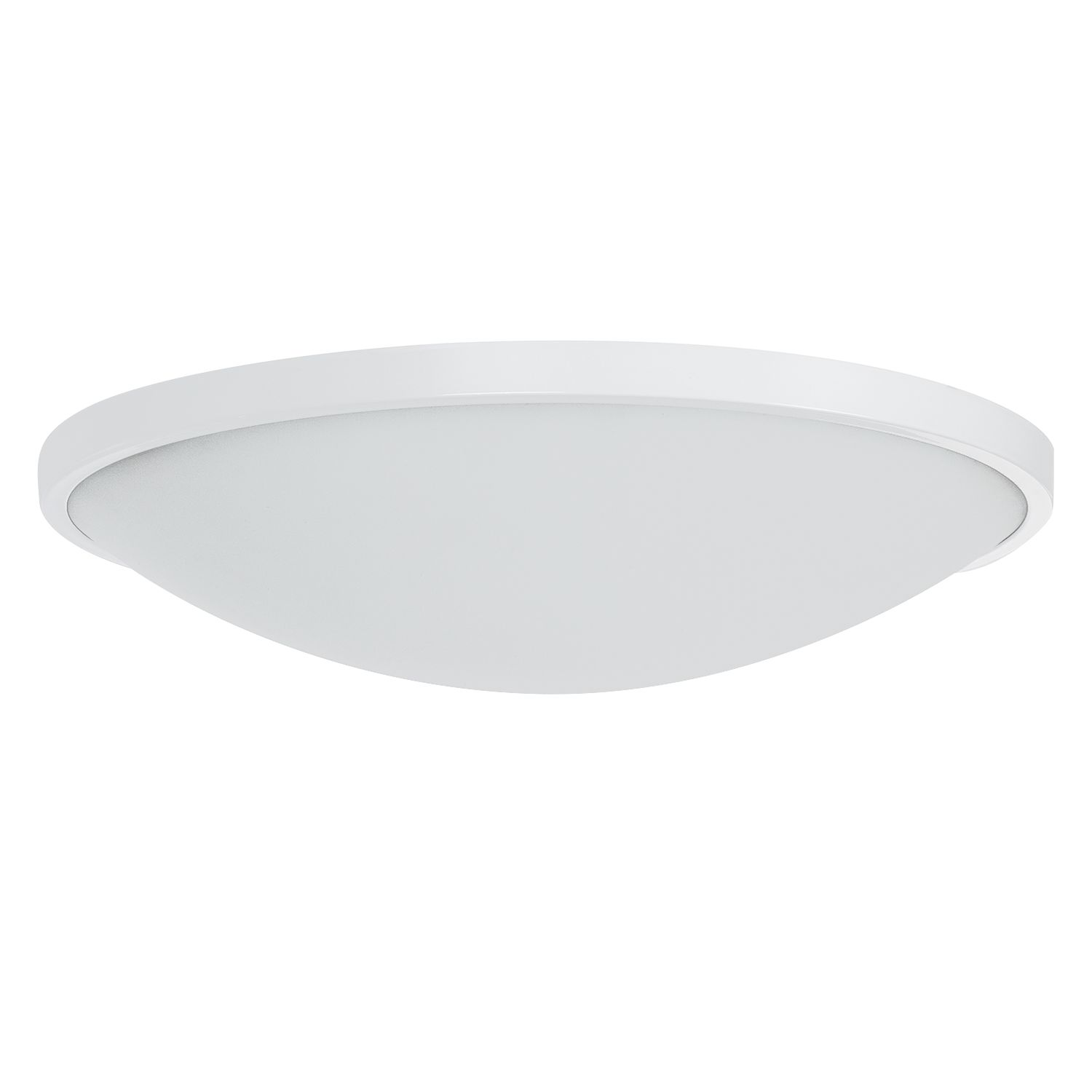 energie  A+, LED-plafondlamp Low - glas/staal wit 1 lichtbron, Lampadina