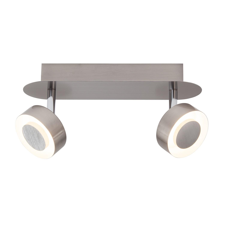 energie  A+, LED-plafondlamp Orban - metaal zilverkleurig 2 lichtbronnen, Brilliant