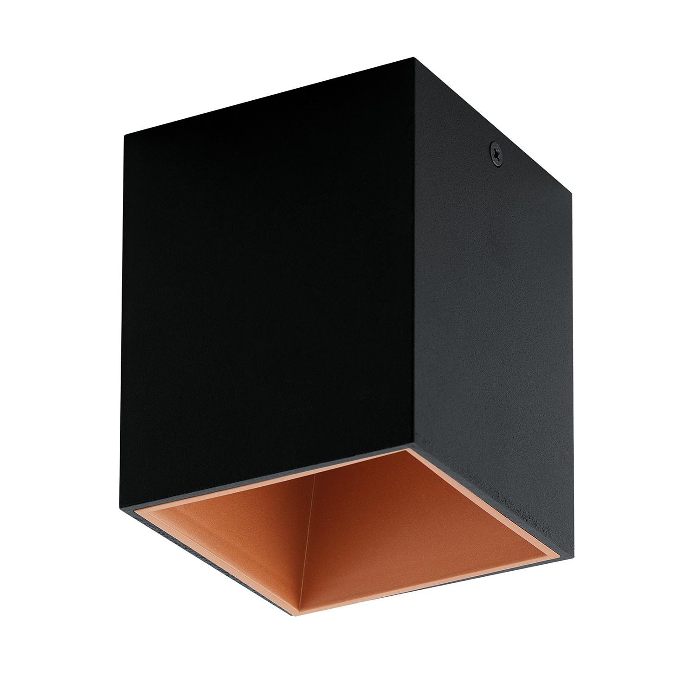 EEK A+, LED-Deckenleuchte Polasso I - Aluminium / Kunststoff - 1-flammig - Schwarz / Kupfer, Eglo