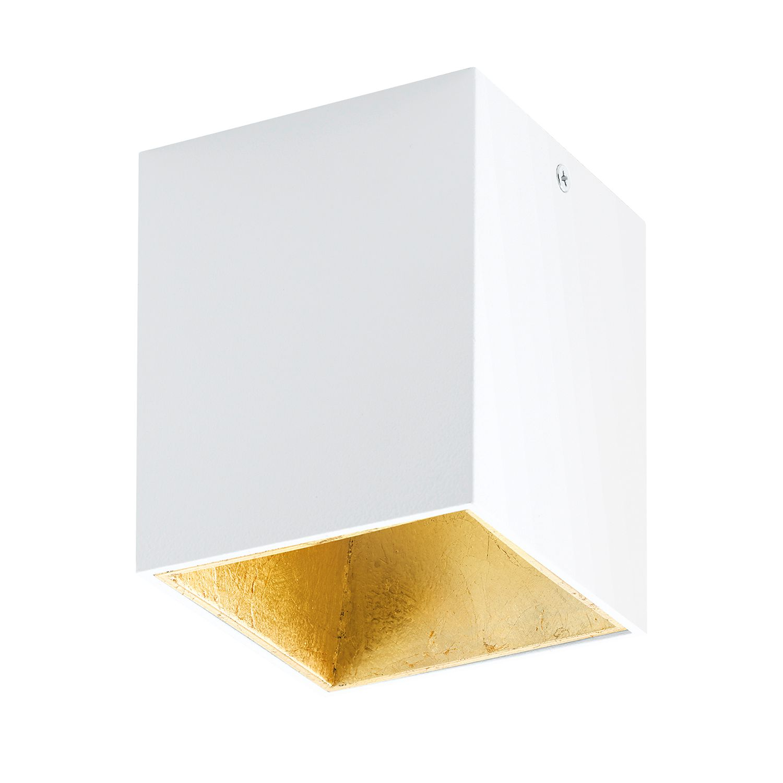 EEK A+, LED-Deckenleuchte Polasso I - Aluminium / Kunststoff - 1-flammig - Weiß / Gold, Eglo
