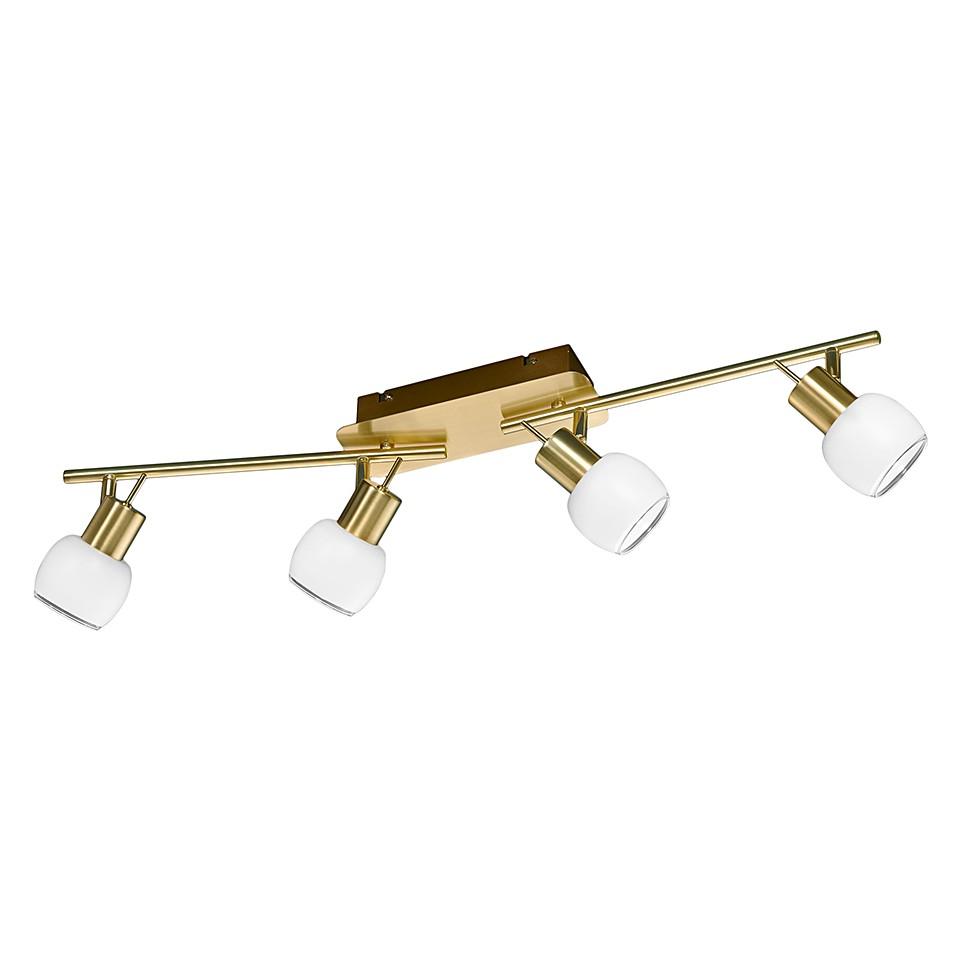 EEK A+, Luminaire LED - Laiton mat 4 x 4,5 watts, Trio