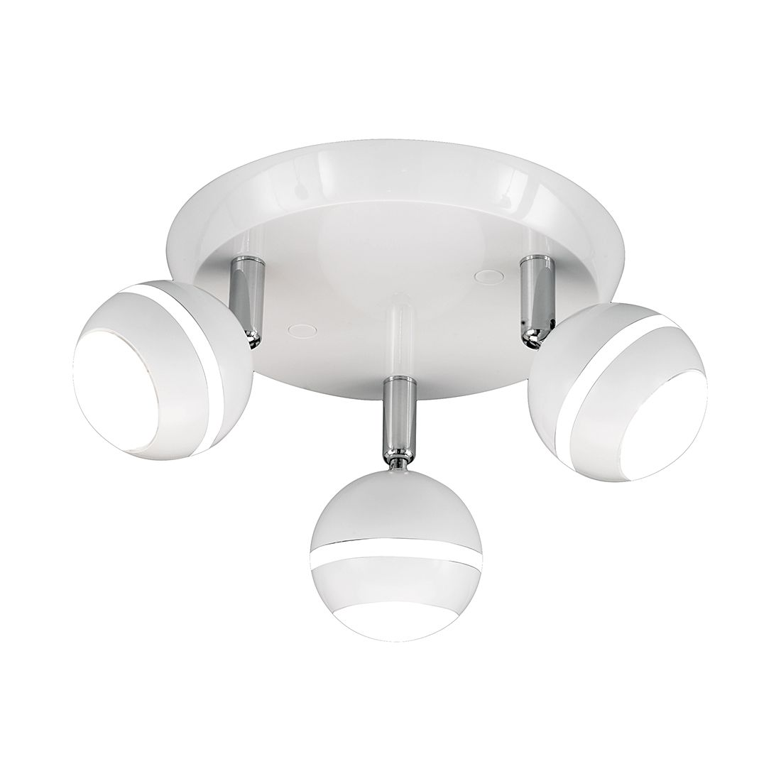 EEK A+, LED-Deckenleuchte Stesi - Weiß - 3-flammig, Trio
