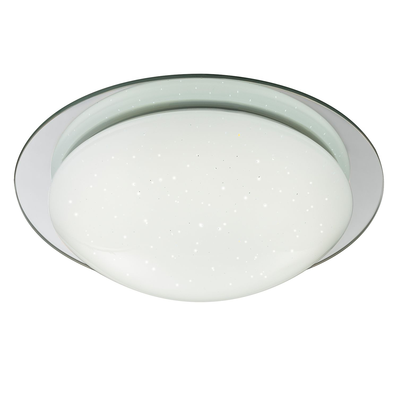 energie  A+, LED-plafondlamp Step Up - acryl/staal - 1 lichtbron - 30, Globo Lighting