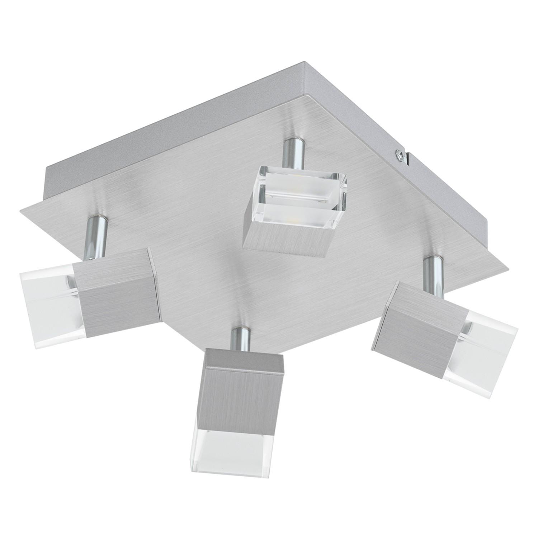 EEK A+, LED-Deckenstrahler Gemini II - Glas / Aluminium - 4-flammig, Eglo