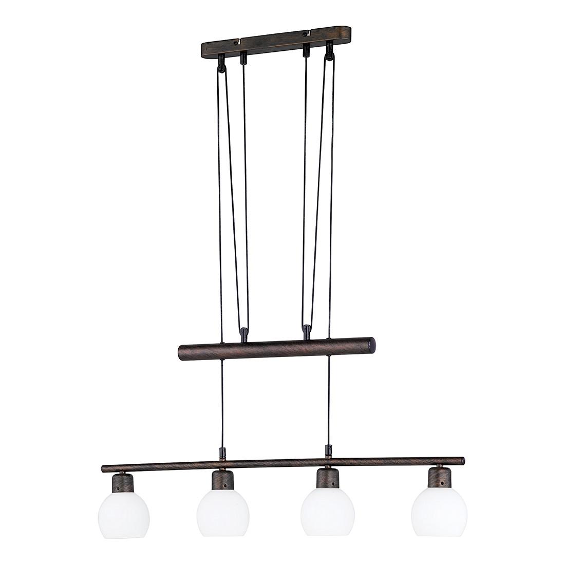 energie  A++, LED- JoJo-hanglamp - antiek roestkleurig 4x4W, Trio
