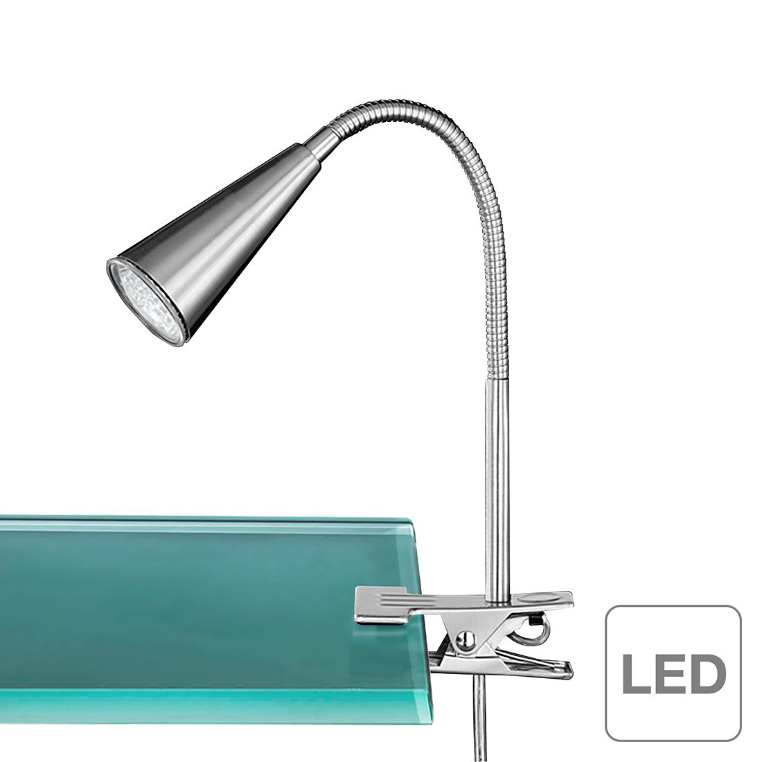 energie  A++, LED-klemlamp Arcos - 1 lichtbron, Action