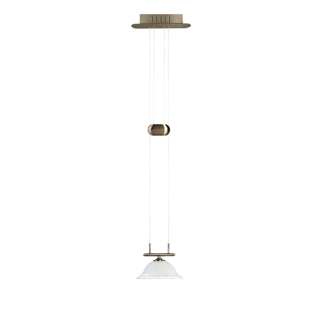 energie  A+, LED-hanglamp Alessia - oud messing/metaal 1 lichtbron, Sorpetaler