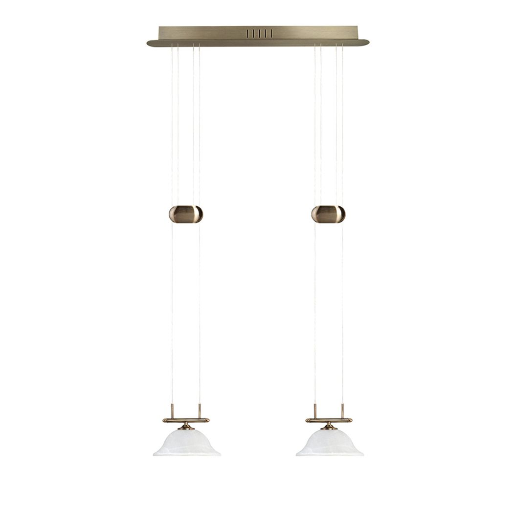 EEK A+, LED Pendelleuchte Alessia Altmessing - Metall - 2-flammig bei Home24 - Lampen
