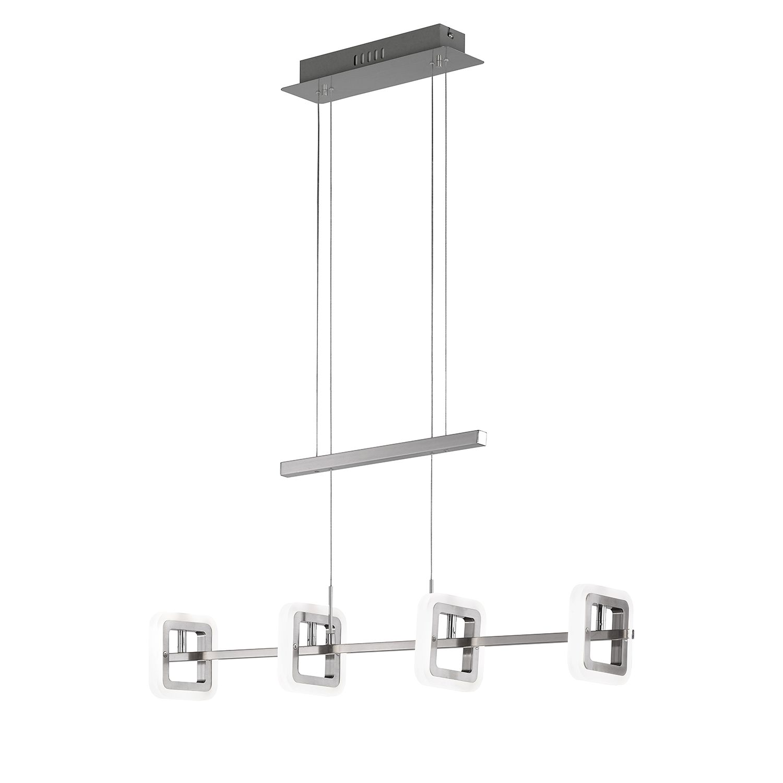 EEK A+, LED-Pendelleuchte Davis - Metall / Acrylglas - 4-flammig, Wofi