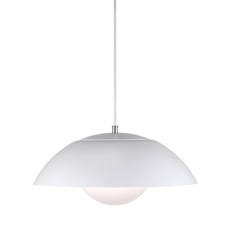 energie  A+, LED-hanglamp Elevate I - kunststof/staal - 1 lichtbron - Wit/zilverkleurig, Nordlux