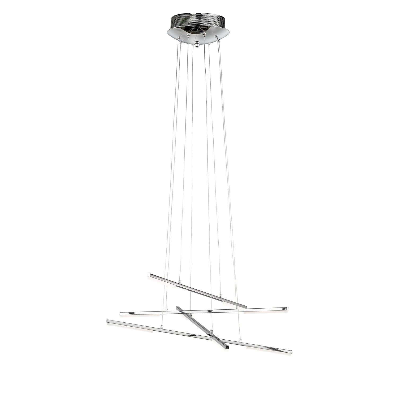EEK A+, LED-Pendelleuchte Forte I - Glas / Metall - 8-flammig, Wofi