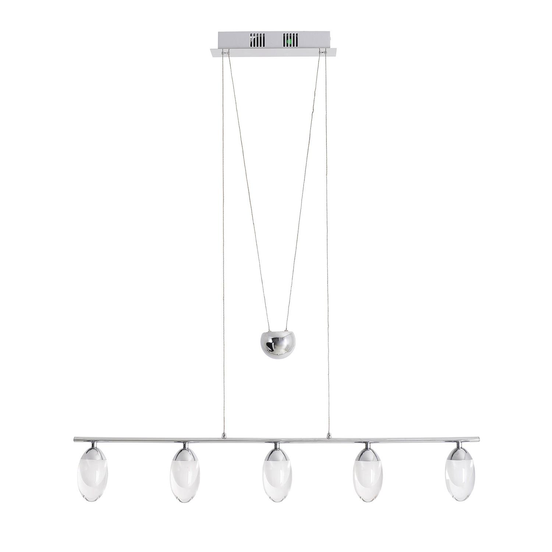 energie  A+, LED-hanglamp - metaal/kunststof zilverkleurig, Näve