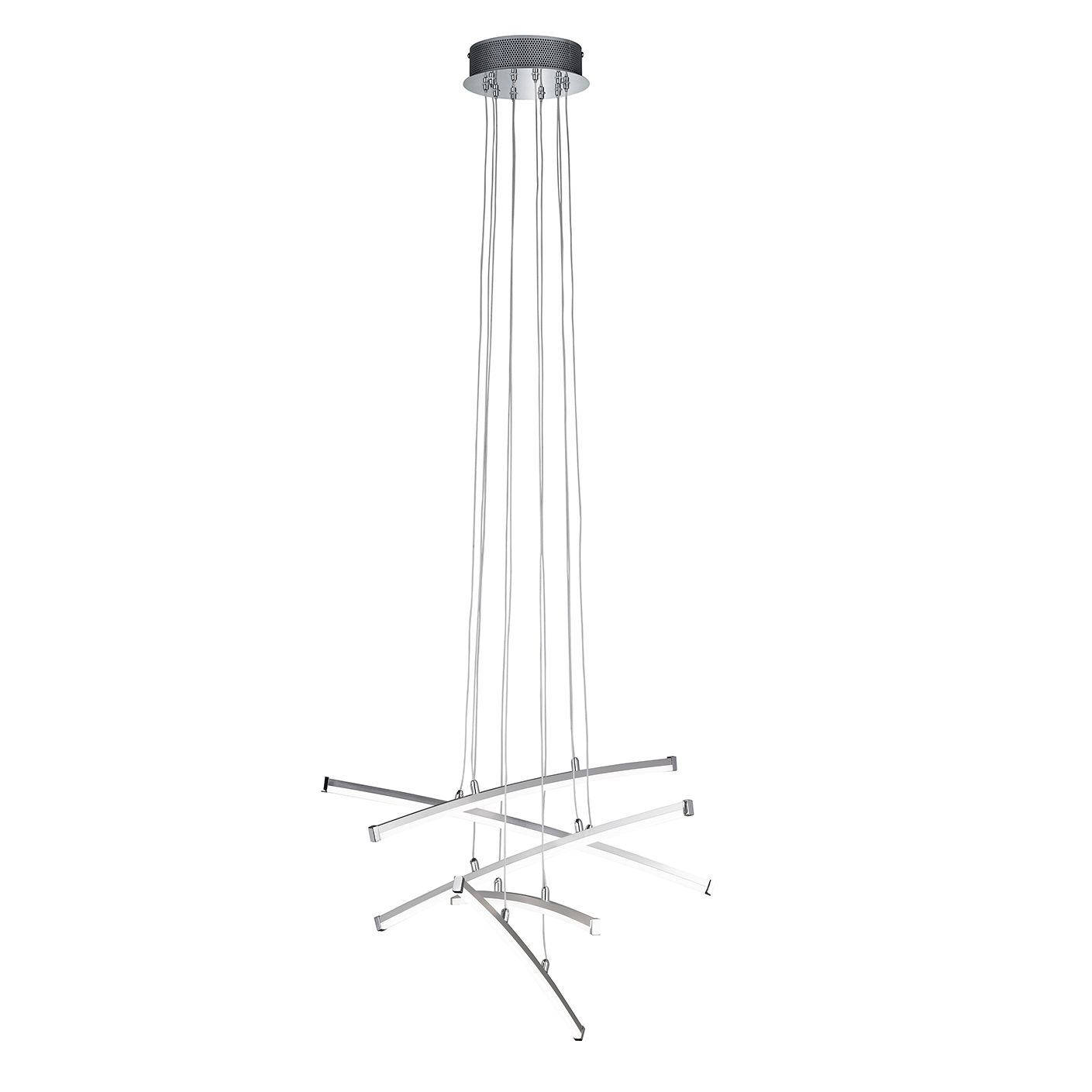 EEK A+, LED-Pendelleuchte Stella I - Glas / Metall - 5-flammig, Wofi