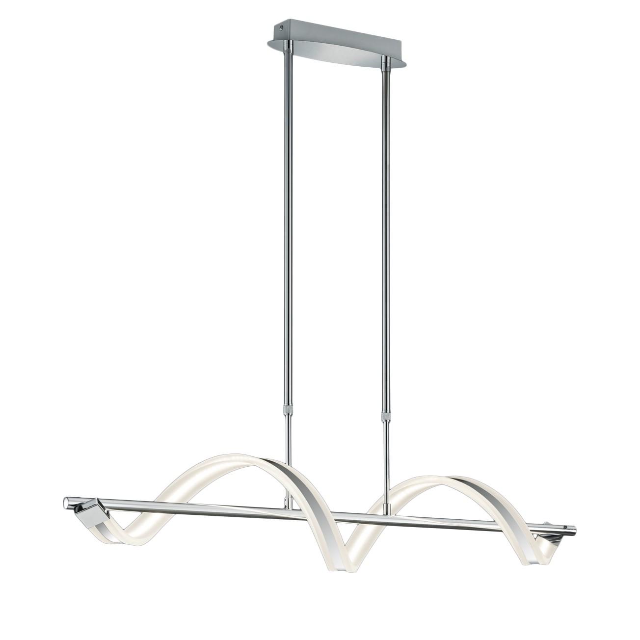 energie  A+, LED-hanglamp Sydney - plexiglas/metaal - 1 lichtbron, Trio