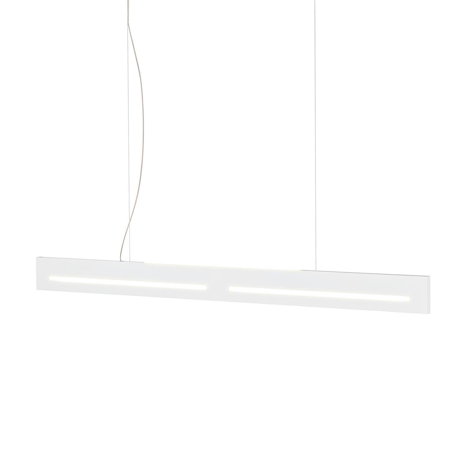 energie  A+, LED-hanglamp Vale - aluminium - wit - 80 lichtbronnen, Lampadina