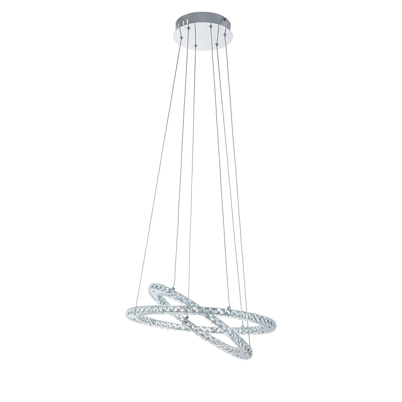 LED-Pendelleuchte VARRAZO von EGLO Kristallglas/Stahl - 1-flammig