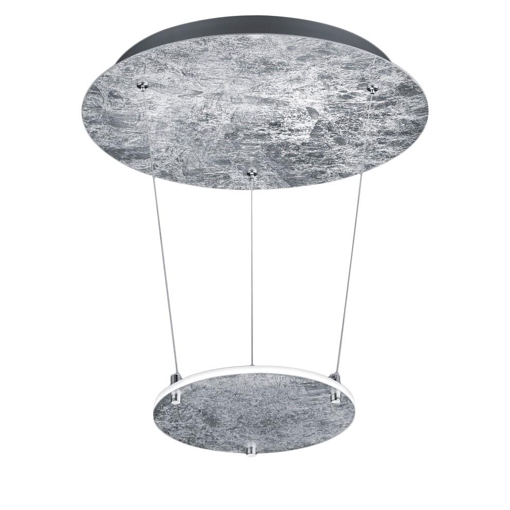 energie  A+, LED-hanglamp Zenit - metaal - 1 lichtbron - Zilverkleurig, Trio