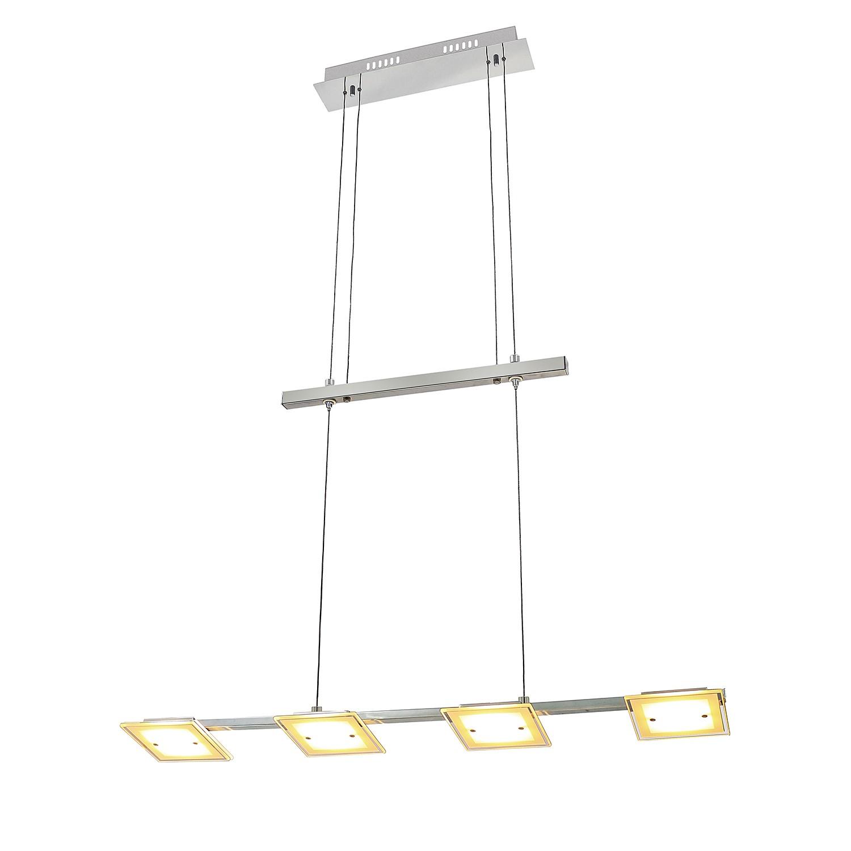 EEK A+, LED-Pendelleuchte Dorena II - Glas / Metall - 4-flammig,  bei Home24 - Lampen