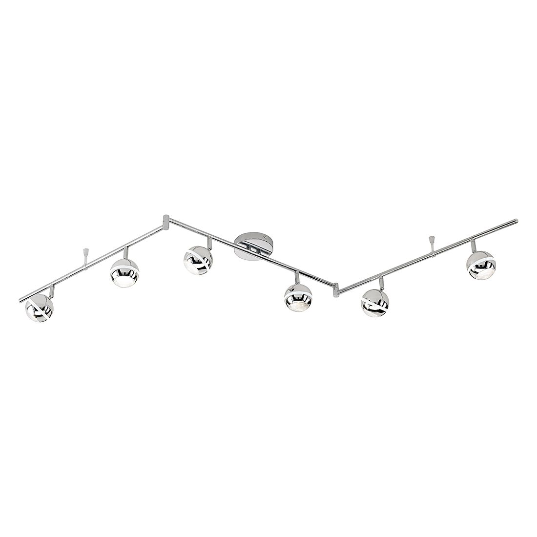 energie  A+, LED-rails - chroomkleurig 6x4,2W, Trio