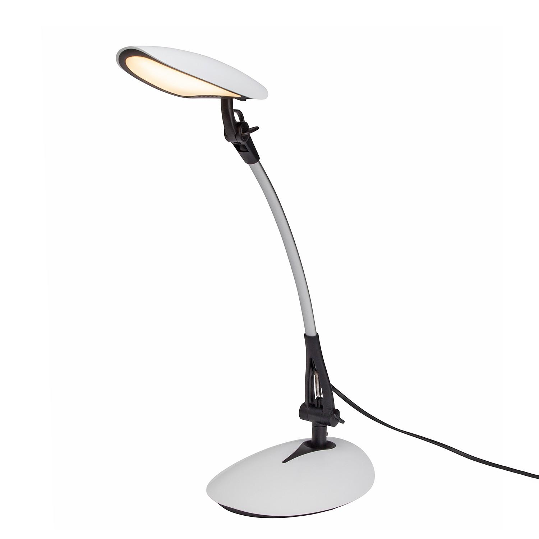 EEK A+, LED-Schreibtischleuchte Sheldon 1-flammig - Schwarz Metall, Brilliant