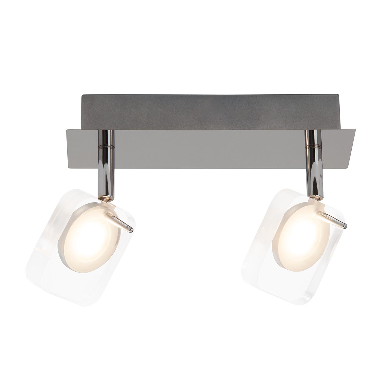 energie  A+, LED-spotjes Narcissa - verchroomd metaal zilverkleurig 2 lichtbronnen, Brilliant