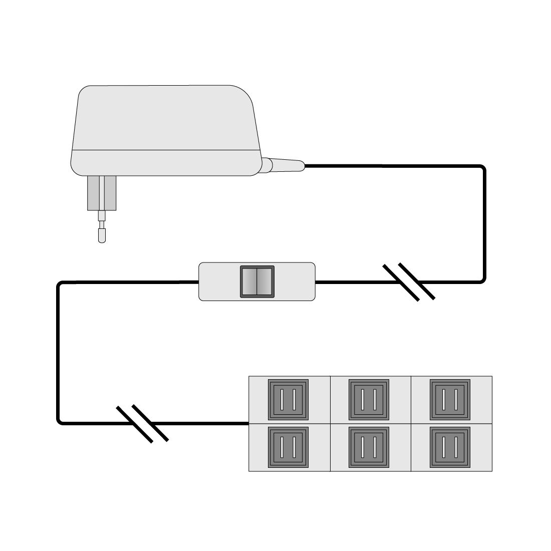 LED-Steckertrafo Salandra I - 20 Watt, roomscape